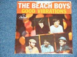 """画像1: THE BEACH BOYS - A) GOOD VIBRATIONS  B)  LET'S GO AWAY FOR AWHILE  ( MATRIX F1 / G2  : DIE-CUT PS ) / 1966 US AMERICA ORIGINAL Used 7"""" SINGLE With PICTURE SLEEVE"""