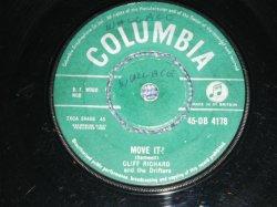 """画像1: CLIFF RICHARD & THE DRIFTERS - MOVE IT ( VG+++/VG+++ ) / 1958 UK ORIGINAL Used 7"""" Single"""