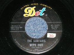 """画像1: The SURFARIS - WIPE OUT / SURFER JOE  (Ex+,Looks:Ex/ Ex+ Looks:Ex ) / 1963 US AMERICA ORIGINAL Used 7"""" Single"""