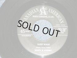 """画像1: SANTO & JOHNNY - SLEEP WALK  :ALL NIGHT DINNER ( Ex++/Ex++ )  1959 US AMERICA ORIGINAL Used 7"""" Single"""