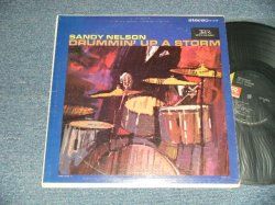 """画像1: SANDY NELSON - DRUMMIN' UP A STORM (Ex++/Ex+++ Looks:MINT- WOBC)  / 1966 Version US AMERICA 3rd Press """"BLACK with GREEN Label"""" STEREO  Used  LP"""