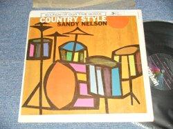"""画像1: SANDY NELSON - COUNTRY STYLE (Ex/VG+ EDSP) / 1962 US AMERICA ORIGINAL 1st Press """"BLACK with 5 STARS Label"""" MONO  Used  LP"""