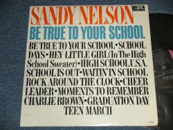 "画像1: SANDY NELSON - BE TRUE TO YOUR SCHOOL (Ex++/Ex++)   / 1964 US AMERICA ORIGINAL 1st Press ""BLACK with PINK and WHITE Label"" MONO Used  LP"