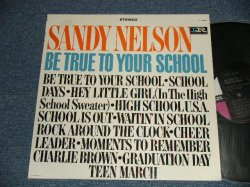 "画像1: SANDY NELSON - BE TRUE TO YOUR SCHOOL (Ex+++/Ex+++  Looks:Ex++)   / 1964 US AMERICA ORIGINAL 1st Press ""BLACK with PINK and WHITE Label"" STEREO Used  LP"