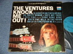 "画像1: THE VENTURES - KNOCK ME OUT (Without or NONE ""TOMORROW'S LOVE"" Version ) (Matrix #A)BST-8033-1 Re US PAT #RE 23,946  GB PAT#713,418   B)BST-8033-2   US PAT #RE 23,946  GB PAT#713,418 ) (Ex/Ex+ EDSP, TAPE) / 1965 US AMERICA 2nd Press ""BLUE with BLACK Print Label"" STEREO Used LP"