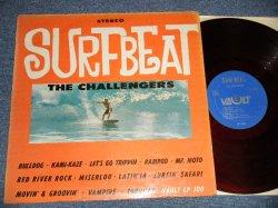 """画像1: THE CHALLENGERS  - SURFBEAT (VG+++/VG++ Looks:VG++) / 1963 US AMERICA ORIGINAL """"RED WAX VINYL"""" """"BLUE LABEL"""" STEREO Used LP"""