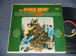 """画像1: The BEACH BOYS - CHRISTMAS ALBUM (MATRIX #  A) ST1-2164-A1 IAM  &  B) ST2-2164-B2  IAM & ) (Scranton Press) (Ex+/Ex++)/ 1964 US AMERICA ORIGINAL """"BLACK With RAINBOW Label"""" STEREO Used LP"""