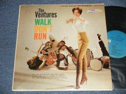 """画像1: THE VENTURES - WALK DON'T RUN (Ex+/Ex+++ Looks:Ex+) / 1964? Version US AMERICA 4th Press """"BLUE with BLACK Print Label"""" STEREO Used LP"""