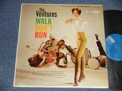 """画像1: THE VENTURES - WALK DON'T RUN (Ex+++/Ex+++ A-1,2:Ex) / 1964? Version US AMERICA 4th Press """"BLUE with BLACK Print Label"""" STEREO Used LP"""