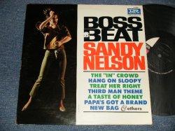 """画像1: SANDY NELSON - BOSS BEAT (Ex/Ex+++, Ex+ Looks:Ex TEAROFC) / 1965 US AMERICA ORIGINAL """"BLACK With PINK & WHIET Label""""  MONO Used LP"""