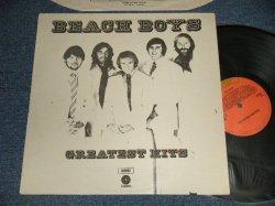 """画像1: The BEACH BOYS - GREATEST HITS (Ex++/MINT-) / 1972 Version UK ENGLAND 2nd Press """"ORANGE Label"""" STEREO Used LP"""